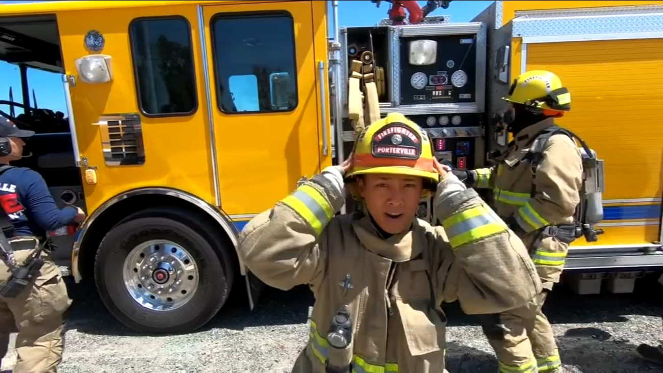 "A challenge ""happily"" accepted by firefighters in Porterville"