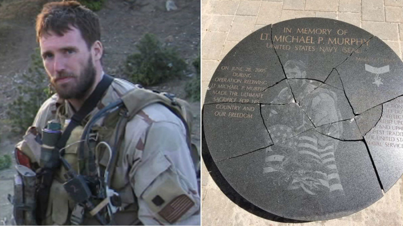 14-year-old boy arrested after memorial honoring hero Navy SEAL from Long  Island vandalized