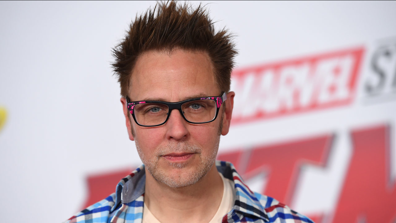 """James Gunn arrive at the Los Angeles premiere of """"Ant-Man and the Wasp"""" at El Capitan Theatre on Monday, June 25, 2018."""