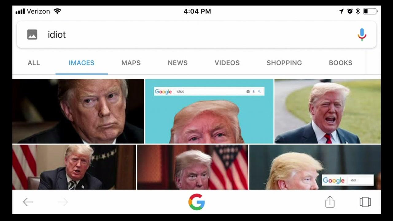 Photos Of President Donald Trump Appear If You Google Idiot