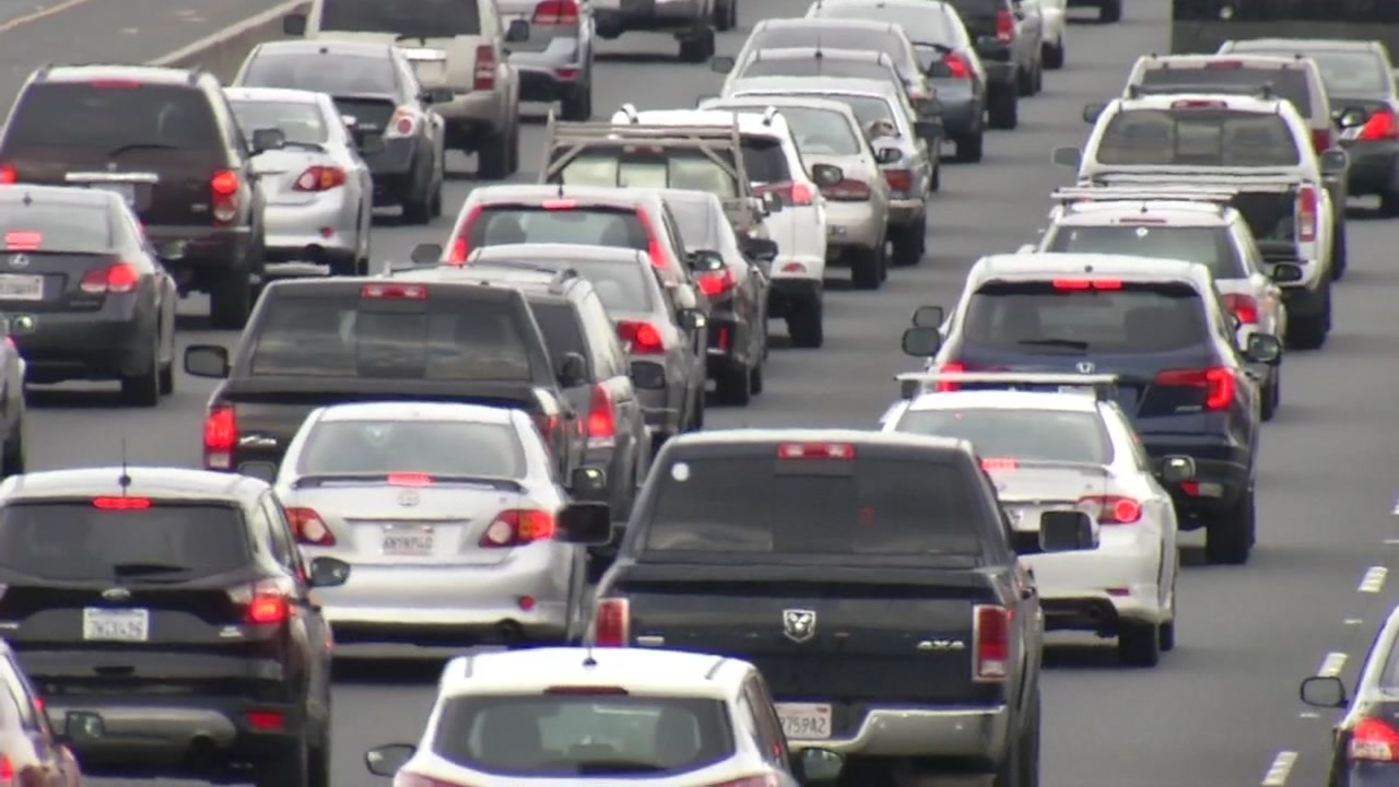 Cars are stuck in Bay Area traffic in this undated file photo.