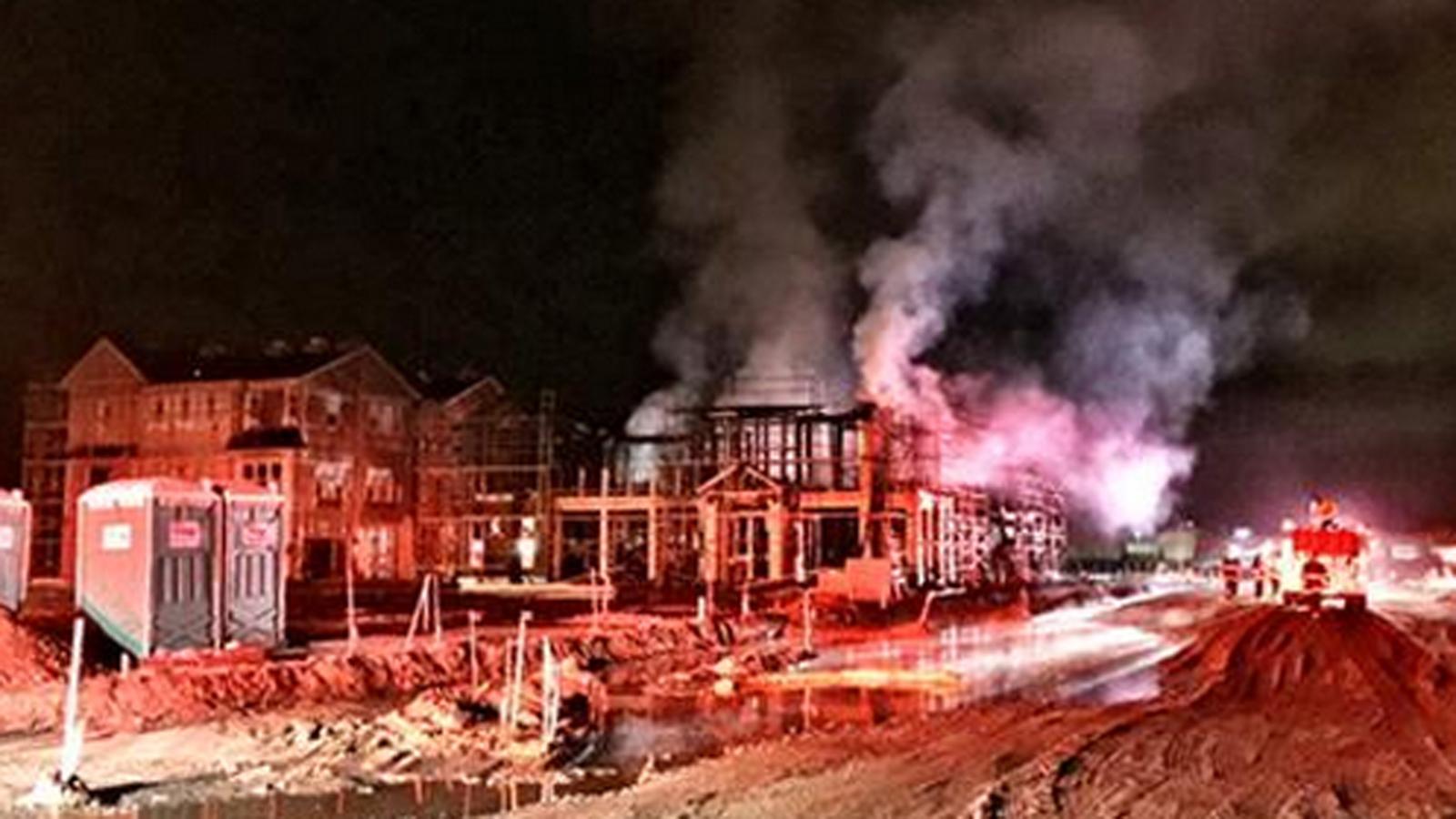 Pleasanton construction fire cause
