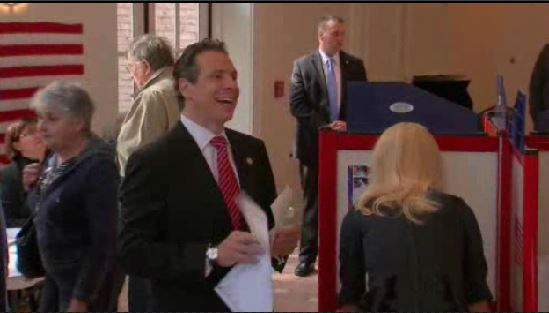 """<div class=""""meta image-caption""""><div class=""""origin-logo origin-image """"><span></span></div><span class=""""caption-text"""">Governor Andrew Cuomo heads to the polls. He is an incumbent in the New York gubernatorial race.</span></div>"""