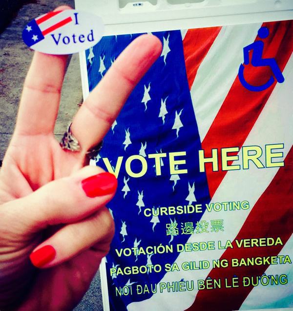 """<div class=""""meta image-caption""""><div class=""""origin-logo origin-image """"><span></span></div><span class=""""caption-text"""">Voters are sending in selfies from polling places around the Bay Area on election day. (KGO)</span></div>"""