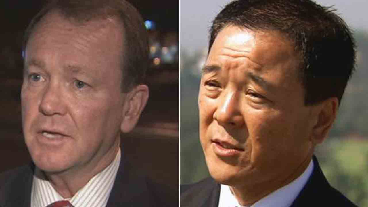 Jim McDonnell (left) defeated former Undersheriff Paul Tanaka in the LA County sheriff's race.
