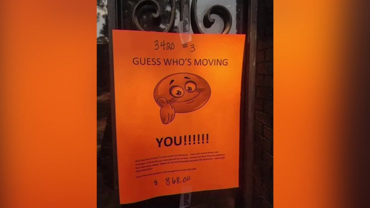Guess whos moving you apartment eviction notice goes viral apartment eviction notice goes viral abc11 altavistaventures Image collections