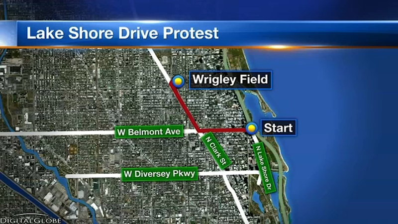 Chicago Subway Map Wrigley Field.Group Planning To Shut Down Lake Shore Drive Not Working With Police Mayor