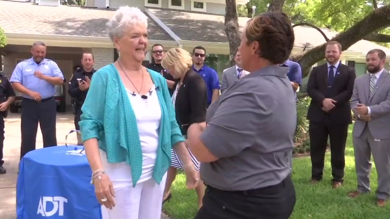 Woman reunites with ADT worker