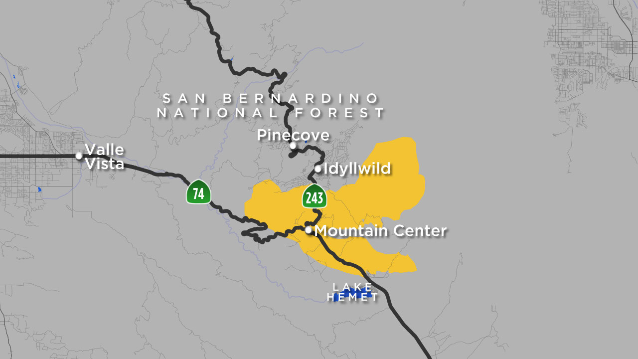 Cranston Fire map: Where Idyllwild brush fire is burning | abc7.com