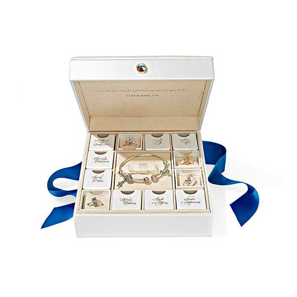 "<div class=""meta image-caption""><div class=""origin-logo origin-image ""><span></span></div><span class=""caption-text"">12 Days of Christmas Gift Set, $500 at Chamilia.com.  ''This set of sterling silver bangle and Swarovski crystal-accented charms...is chic, understated.'' -Oprah (Photo/Gregor Halenda)</span></div>"