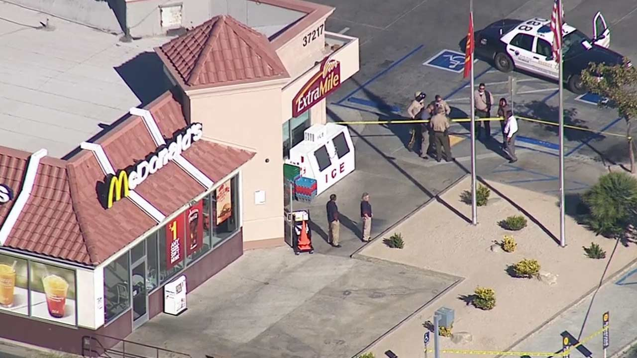 A shooting broke out at a McDonald's near E. Avenue S and N. 47th St. E. in Palmdale on Thursday, Nov. 6, 2014.