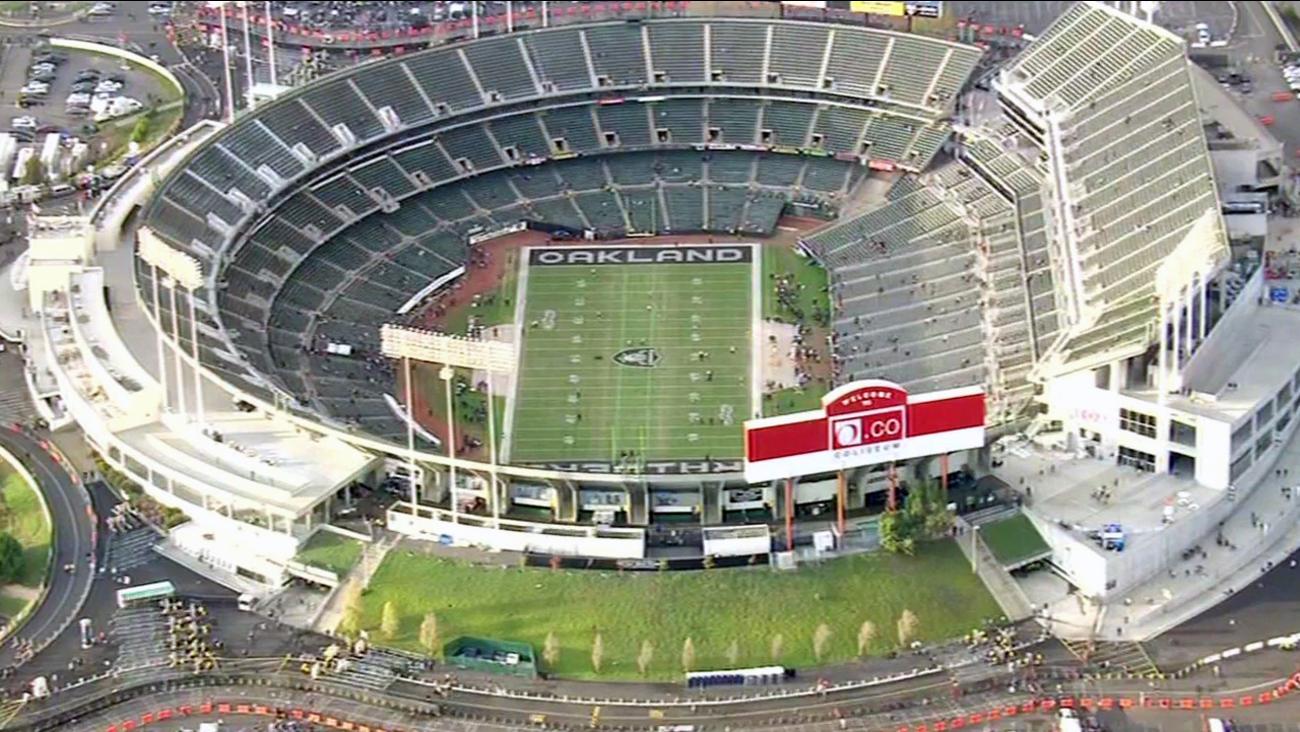 O.co Coliseum in Oakland, California.