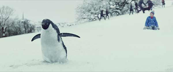 """<div class=""""meta image-caption""""><div class=""""origin-logo origin-image """"><span></span></div><span class=""""caption-text"""">This kid's pet penguin is looking for love. If you're wondering why he would have a pet penguin, you'll just have to watch to understand. (John Lewis/YouTube)</span></div>"""