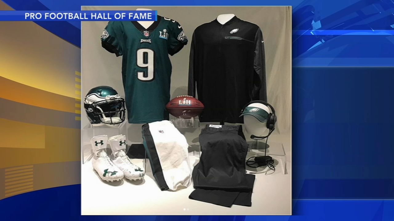 Nice Philadelphia Eagles' Super Bowl items on display at Pro Football  for cheap