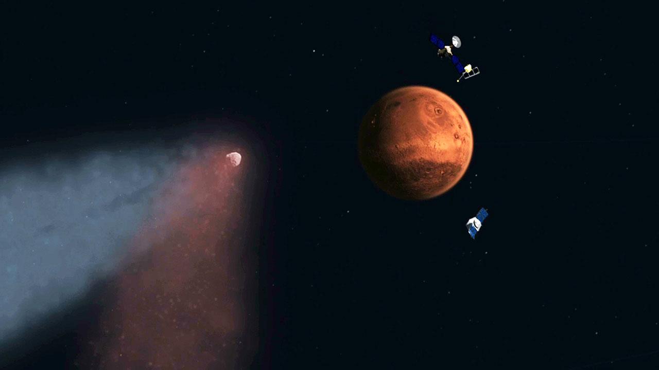 Mars comet
