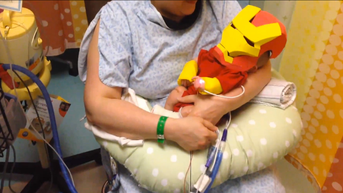dad builds iron man halloween costume for sick newborn son | abc30
