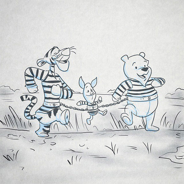 """<div class=""""meta image-caption""""><div class=""""origin-logo origin-image """"><span></span></div><span class=""""caption-text"""">Oh Bother, Where Art Thou? -- """"Winnie breaks out of jail with the help of his prison mates Tigger and Piglet... on a cross-state journey to find his missing honey pot."""" (Austin Light/austindlight.com)</span></div>"""