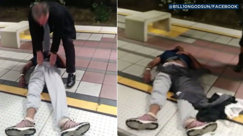 VIDEO: Man in medical distress dragged off Long Beach train