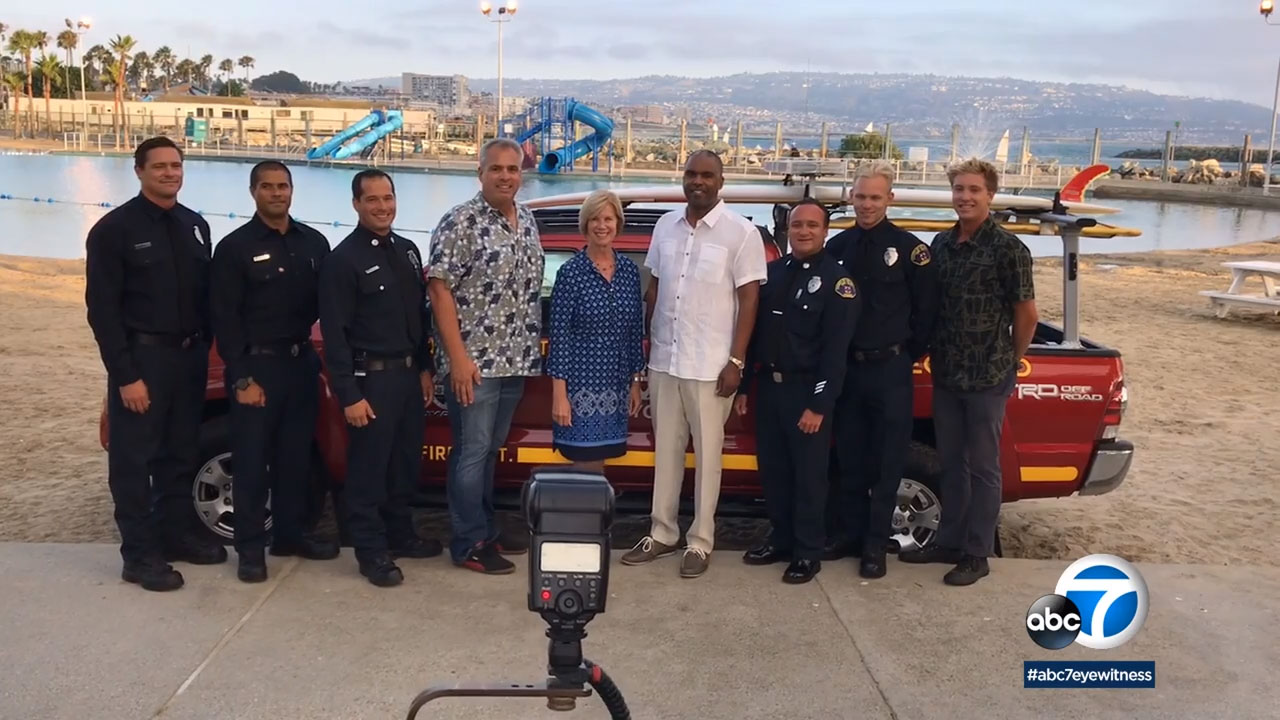 Los Angeles County lifeguards were presented with the Medal of Valor for their bravery in the line of duty.