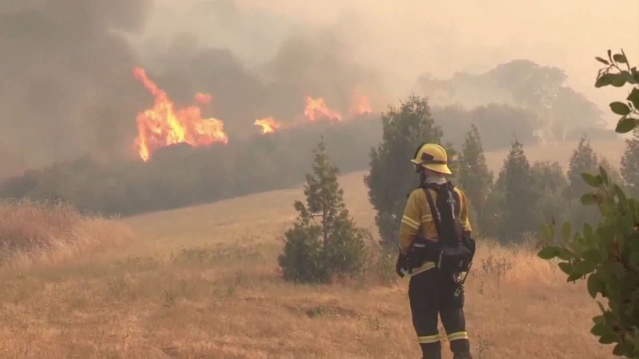 Firefighters are battling 17 wildfires across California.