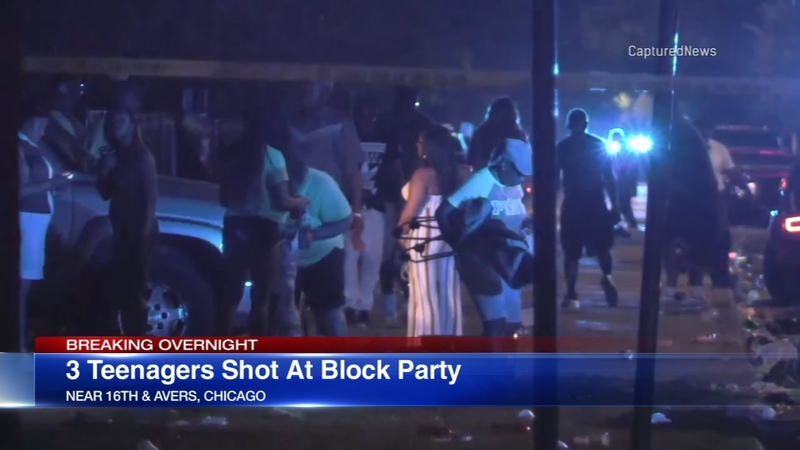 4 wounded in Lawndale block party shooting