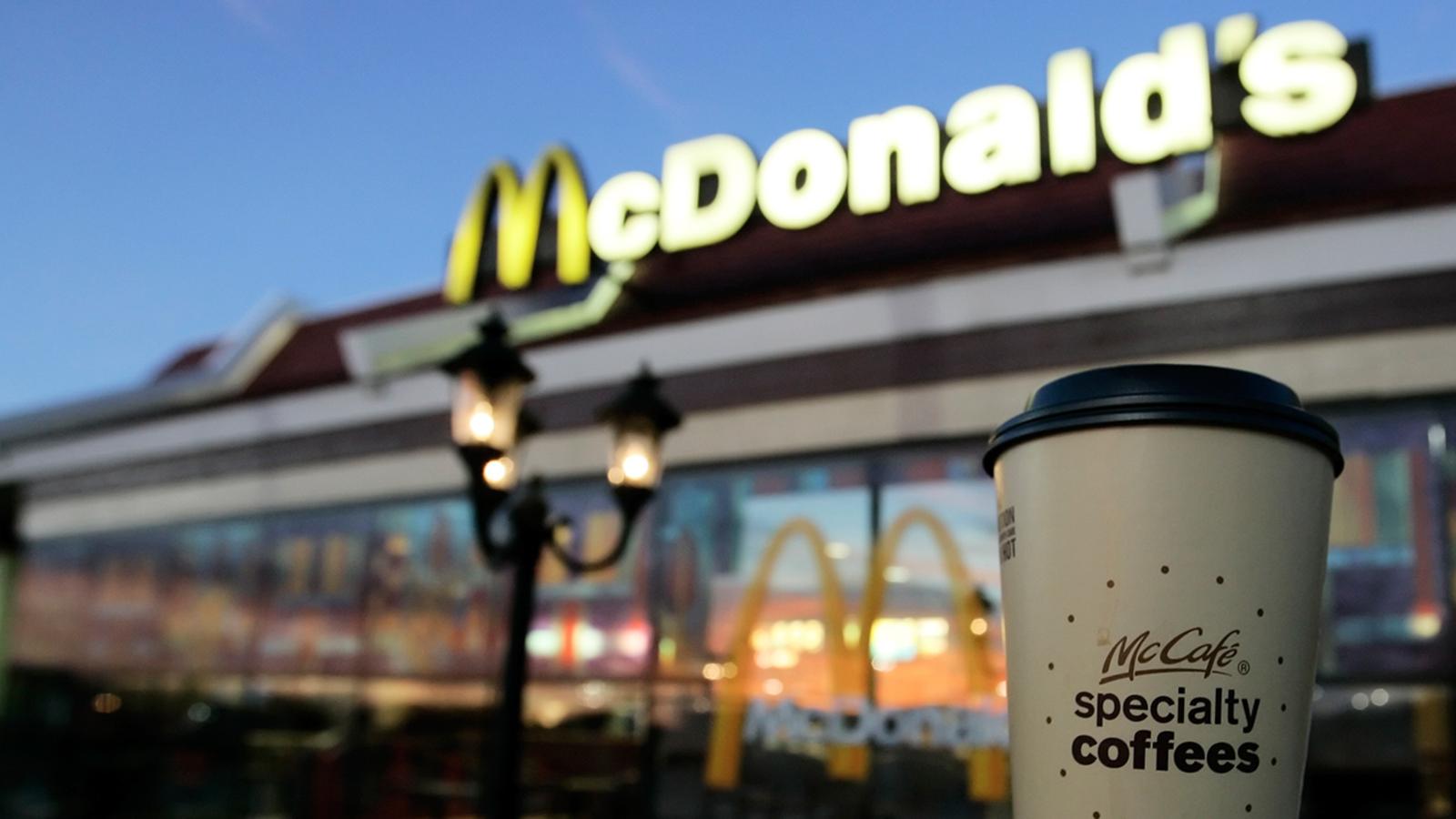 через макдоналдс кофе фото свободного времени становится