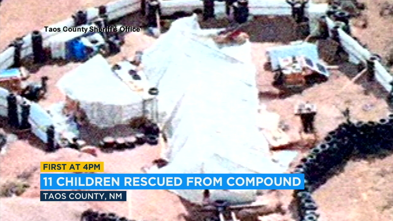 11 children rescued from New Mexico compound, 5 adults arrested