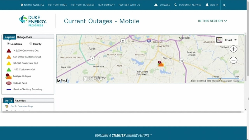 Power restored to more than 2,700 Duke Energy in Garner after brief on