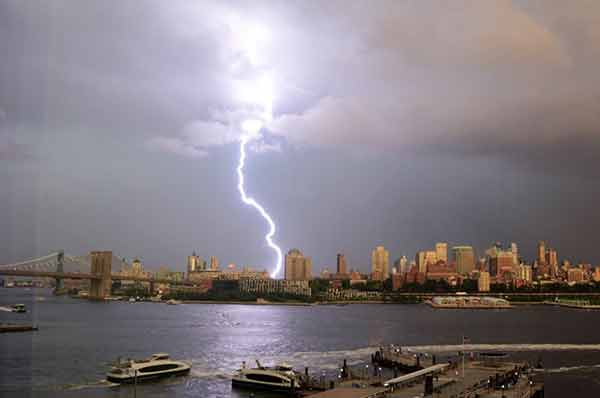 <div class='meta'><div class='origin-logo' data-origin='none'></div><span class='caption-text' data-credit='Cory Seamer/Twitter'>Viewers posted dramatic images on social media of lightning strikes in and around New York City on August 7, 2018.</span></div>