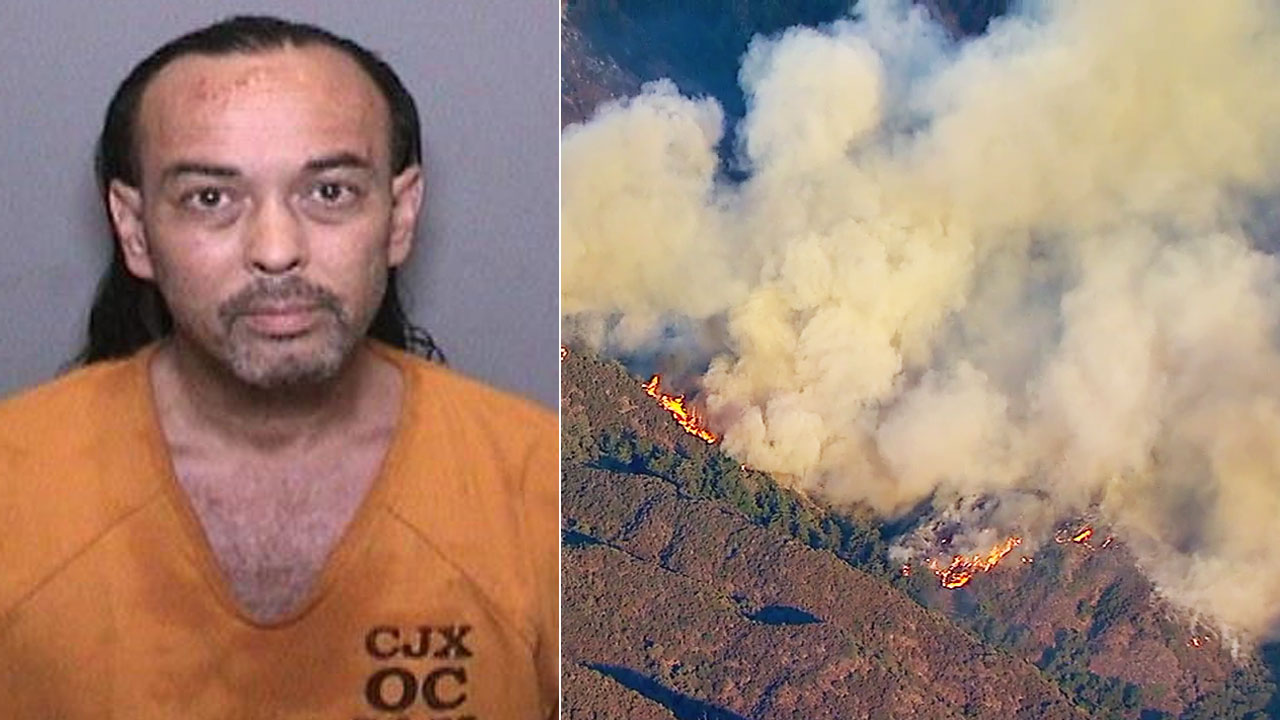 A booking photo of Forrest Gordon Clark, 51, who was arrested in connection to the Holy Fire on Wednesday, Aug. 8, 2018.