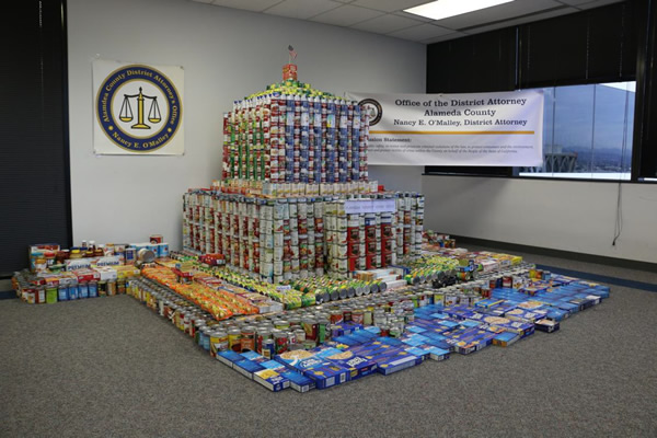 food sculpture alameda county holiday food drive