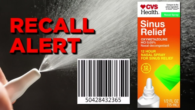cvs recalls nasal mist due to microbiological contamination