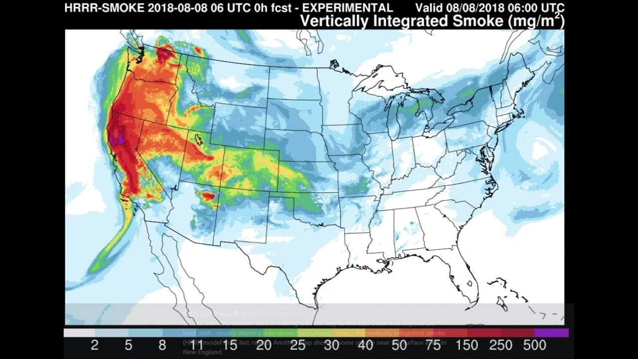Smoke from California wildfires reaches New York City ... on california congressional district map, california heat map, california lyme map, california grey map, california radiation map, california vortex map, california fishing lakes map, california wildfires current, california white map, california sea level map, california united states map, california fires from space, california groundwater map, california district court map, california fracking map, california salt map, california meth map, california smog map, california ley lines map, california flooding map,