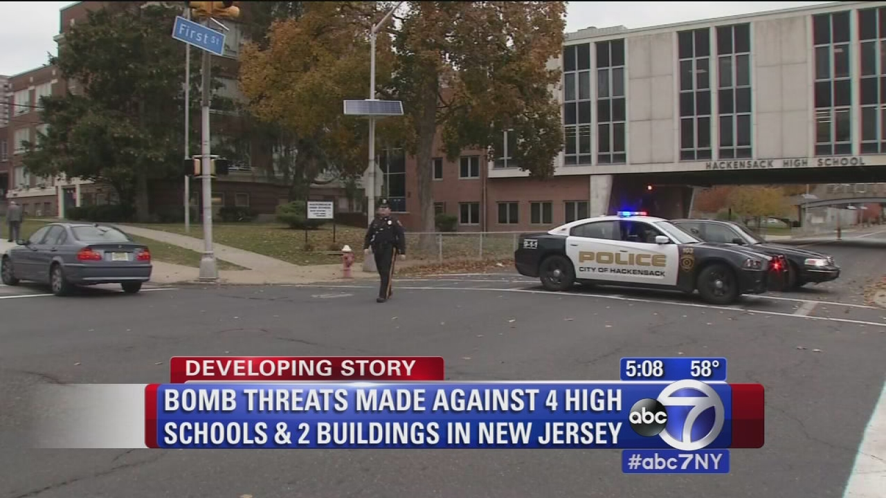 Police Investigating Bomb Threats Against 4 High Schools And 2 Buildings In New Jersey Abc7 New York