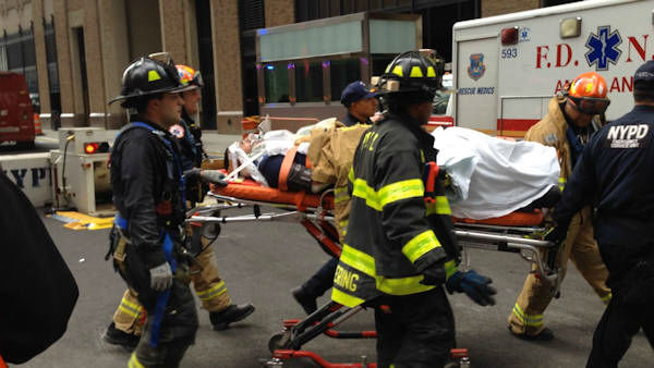 """<div class=""""meta image-caption""""><div class=""""origin-logo origin-image """"><span></span></div><span class=""""caption-text"""">After being rescued, the two workers were rushed to Bellevue Hospital. (Photo courtesy Joseph John Ramos.)</span></div>"""