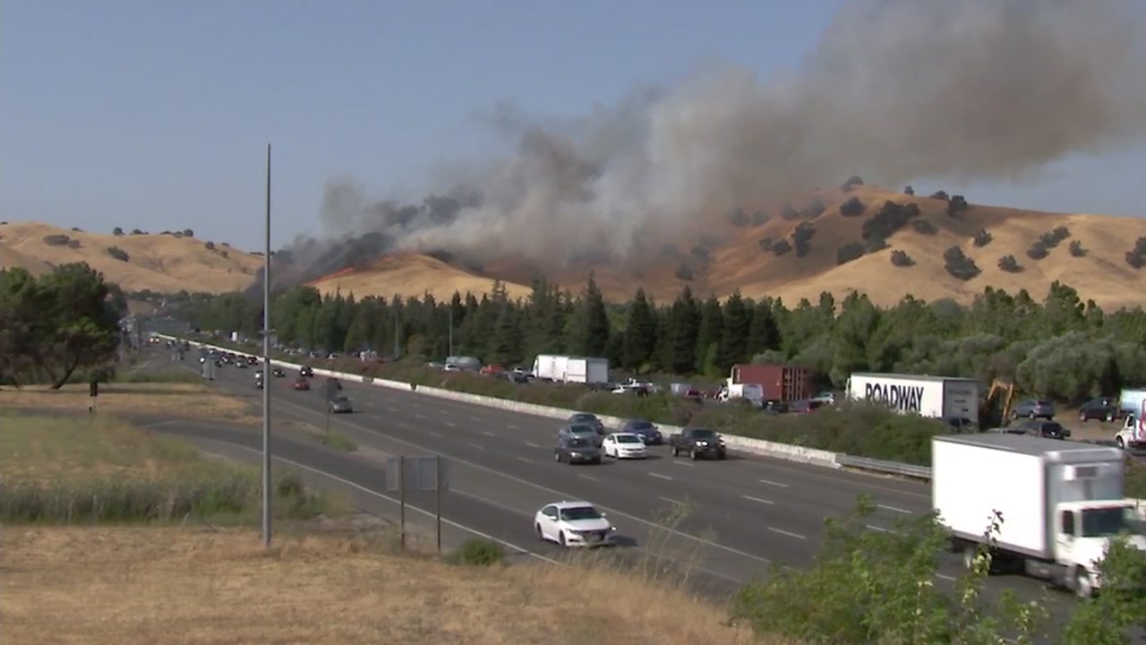 Fairfield Fire Near I 80 More Than Half Contained After Burning