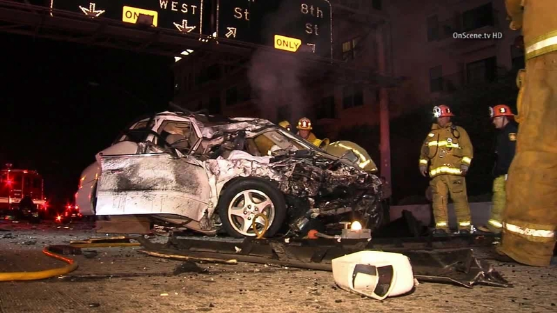 2 killed in crash caused by wrong-way driver on 110 Freeway