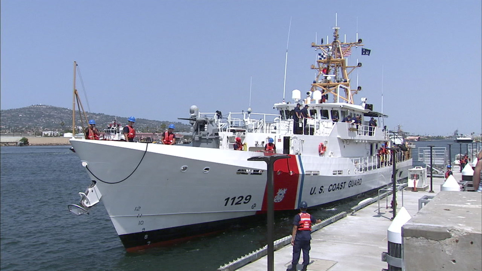 New Coast Guard Fast Response Ship Arrives For Duty In San Pedro
