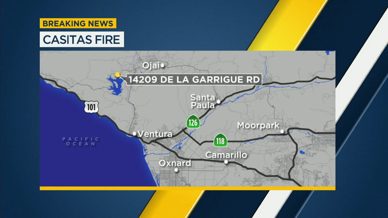 Casitas Fire In Ojai Burns 15 Acres Abc7 Com