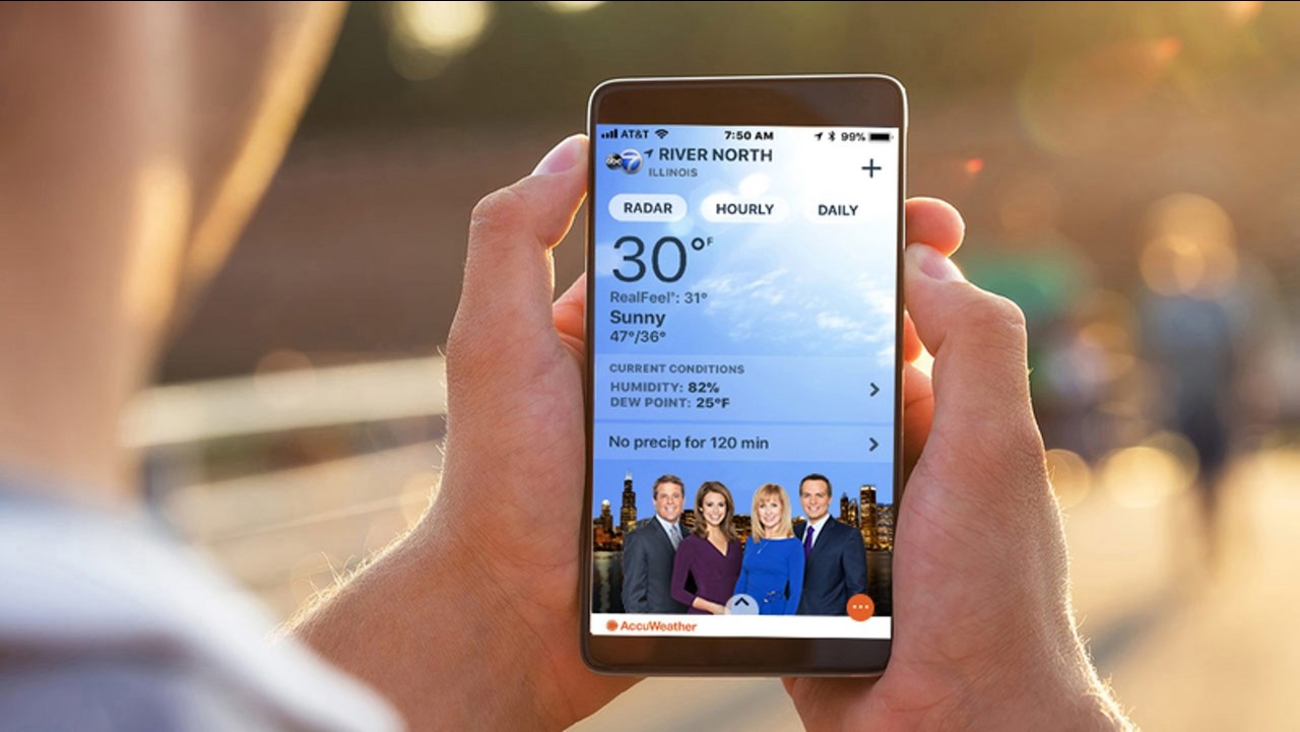 Get The Abc7 Chicago Accuweather App For Minute By Minute Forecasts Today