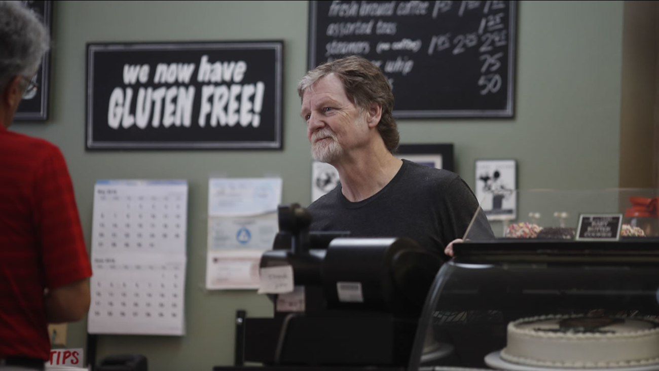 Baker Jack Phillips, owner of Masterpiece Cakeshop, manages his shop on Monday, June 4, 2018, in Lakewood, Colo.
