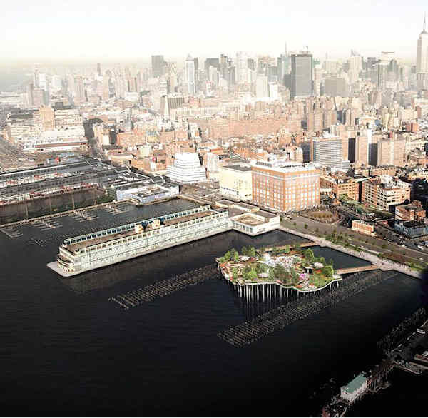 "<div class=""meta image-caption""><div class=""origin-logo origin-image ""><span></span></div><span class=""caption-text"">A new park and open-air performance space is planned for the Hudson River.  (Picture courtesy Pier55/Heatherwick Studio.)</span></div>"