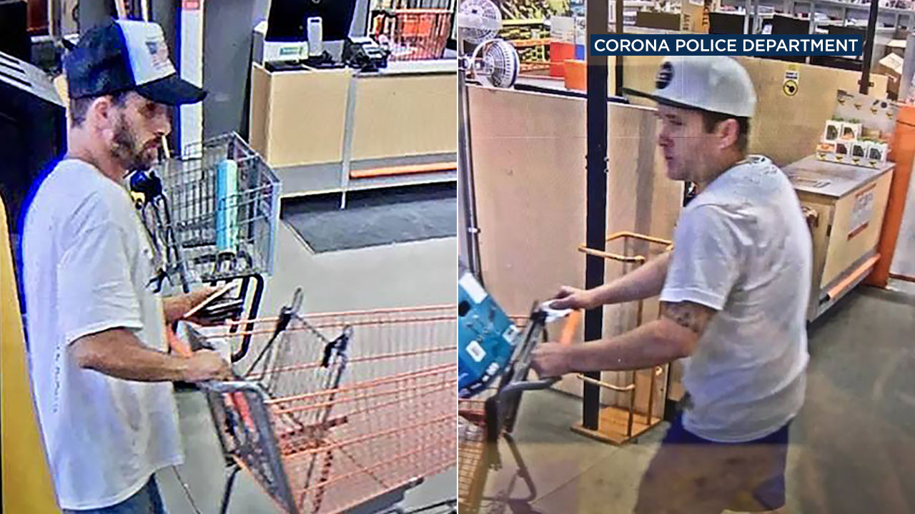 Police are asking for the public's help to identify two suspects alleged to have used stolen credit cards to make purchases at Home Depot and Lowes in Corona.