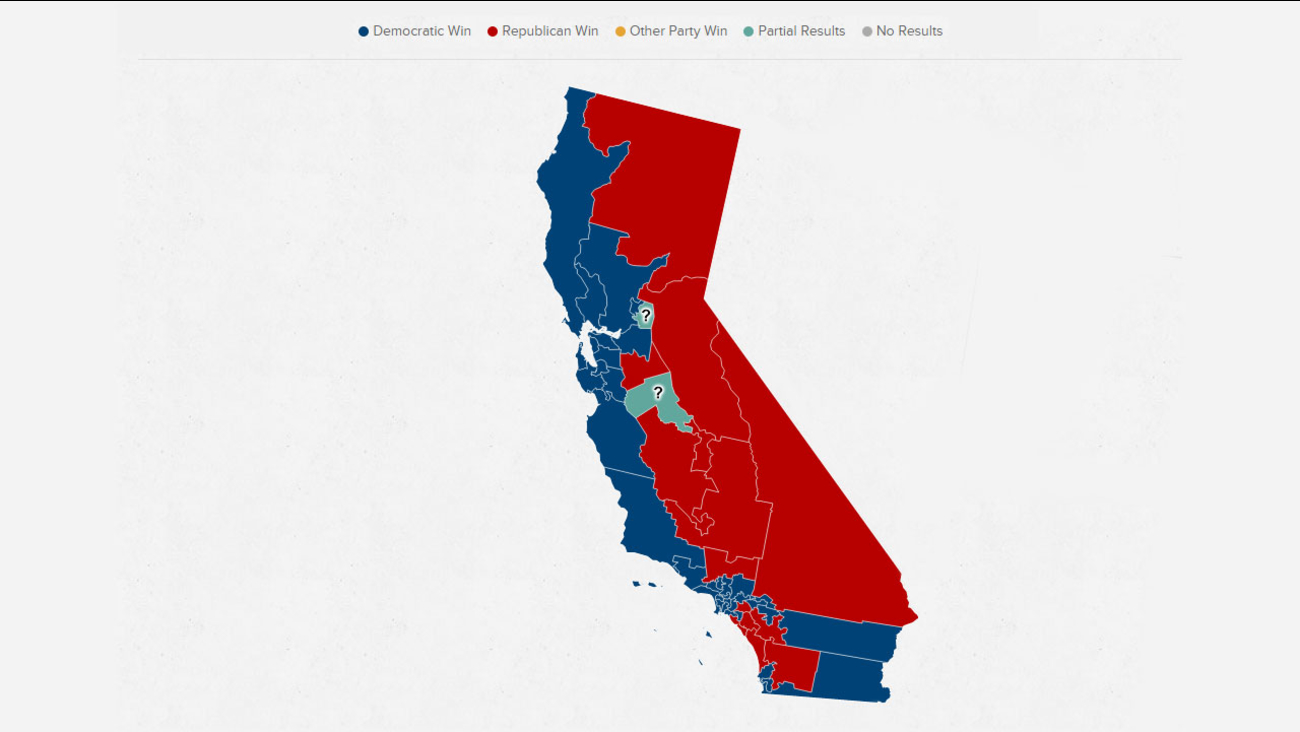 Political Map Of California Red vs Blue: California Election   ABC30 Fresno