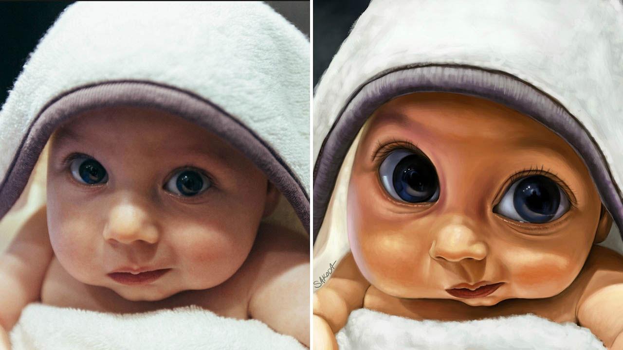 PHOTOS: Artists transform photos of baby boy into incredible