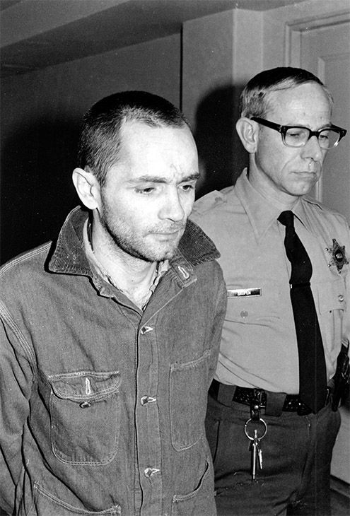 <div class='meta'><div class='origin-logo' data-origin='none'></div><span class='caption-text' data-credit='Photo/AP'>Charles Manson is escorted to court for formal sentencing in Los Angeles, Calif., on April 19, 1971.</span></div>