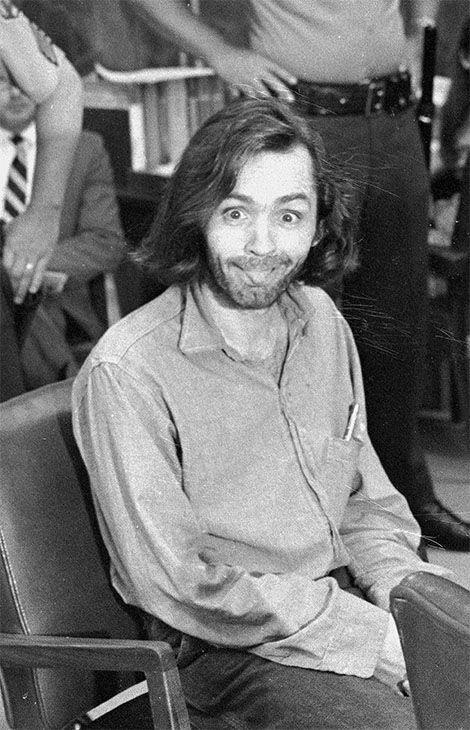 "<div class=""meta image-caption""><div class=""origin-logo origin-image none""><span>none</span></div><span class=""caption-text"">Charles Manson sticks his tongue out at photographers as he appears in a Santa Monica, Calif., courtroom on June 25, 1970. (Photo/AP)</span></div>"