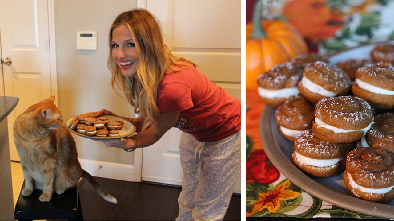 Katherine Whaley's Mini Pumpkin Whoopie Pies