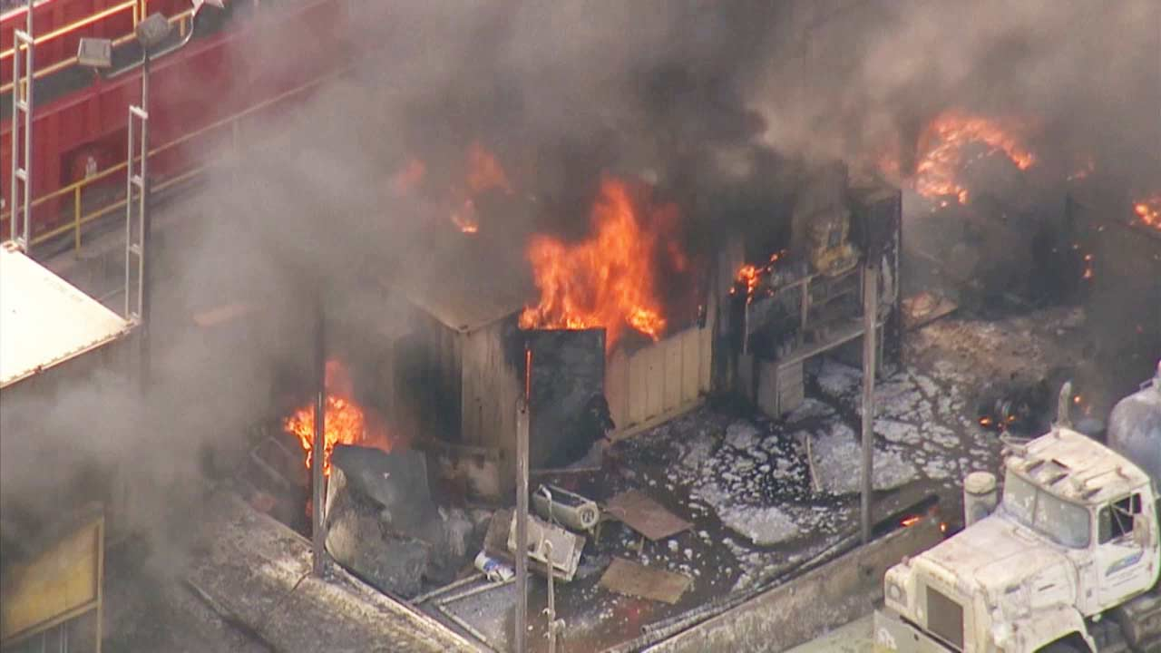 Hazmat fire burning in Southern California after vacuum