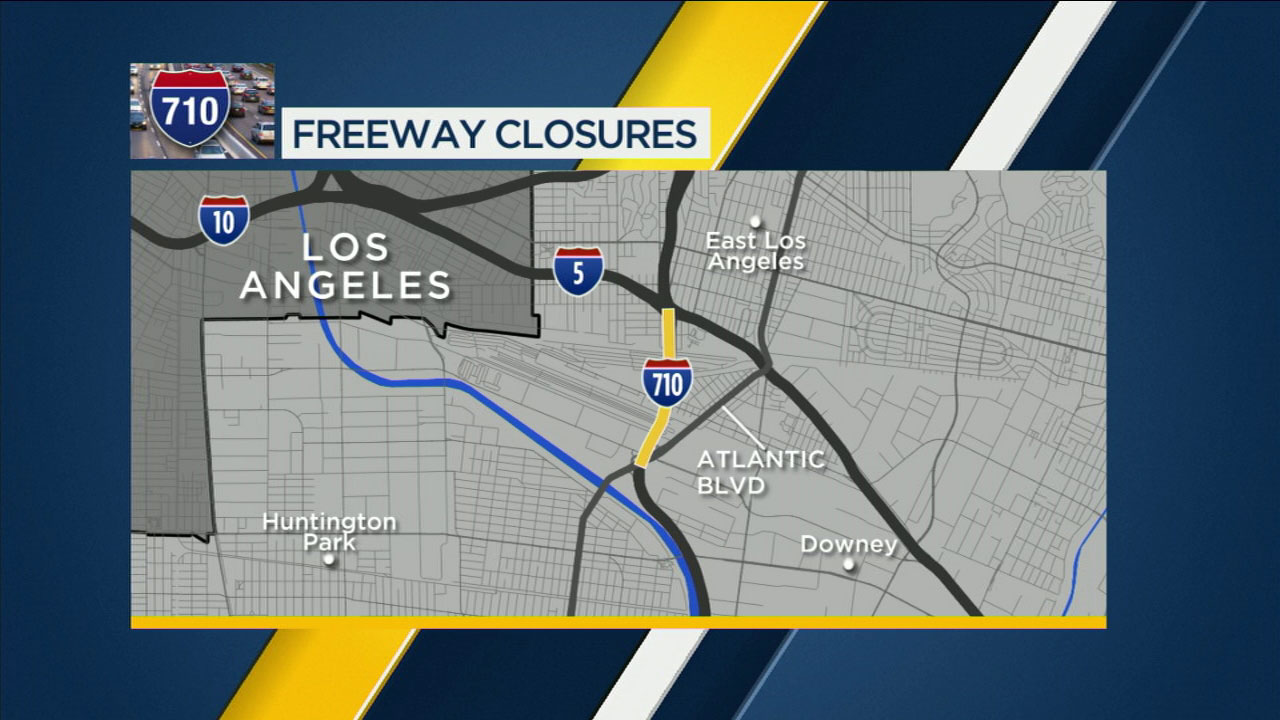 710 Freeway lanes closing for construction in Commerce